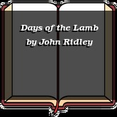 Days of the Lamb