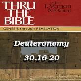 Deuteronomy 30.16-20