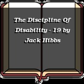 The Discipline Of Disability - 19