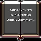 Christ Church Ministries
