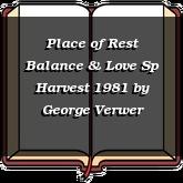 Place of Rest Balance & Love Sp Harvest 1981