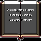 Redcliffe College 8th Sept 99