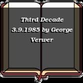 Third Decade 3.9.1985