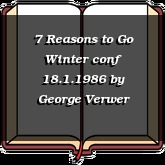 7 Reasons to Go Winter conf 18.1.1986