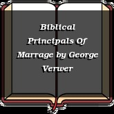 Biblical Principals Of Marrage