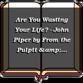Are You Wasting Your Life? - John Piper