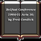 Belfast Conference 1964-01 Acts 16;