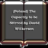 (Poland) The Capacity to be Stirred