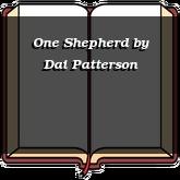 One Shepherd