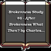 Brokenness Study #6 - After Brokenness What Then?