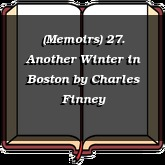 (Memoirs) 27. Another Winter in Boston