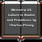 (Memoirs) 25. Labors in Boston and Providence