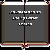 An Invitation To Die