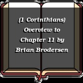 (1 Corinthians) Overview to Chapter 11