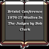 Bristol Conference 1976-17 Studies In The Judges