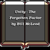 Unity - The Forgotten Factor