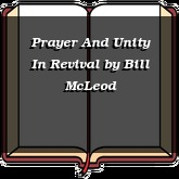 Prayer And Unity In Revival