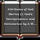 Attributes of God (Series 1): God's Omnipresence and Immanence