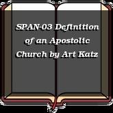 SPAN-03 Definition of an Apostolic Church