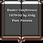 Easter Conference 1979-02