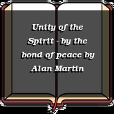 Unity of the Spirit - by the bond of peace