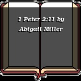 1 Peter 2:11