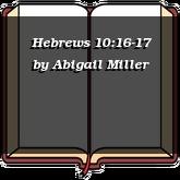 Hebrews 10:16-17