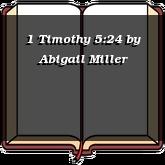 1 Timothy 5:24
