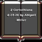 2 Corinthians 4:15-16