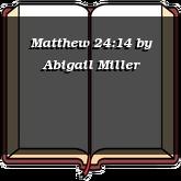 Matthew 24:14