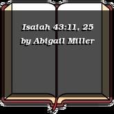 Isaiah 43:11, 25