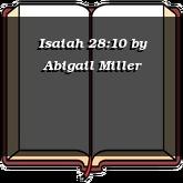 Isaiah 28:10