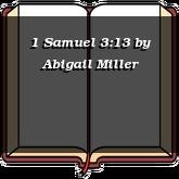 1 Samuel 3:13