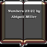 Numbers 23:21