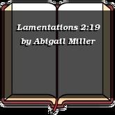 Lamentations 2:19
