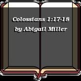 Colossians 1:17-18