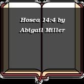 Hosea 14:4