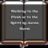 Walking in the Flesh or in the Spirit