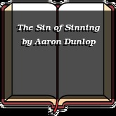 The Sin of Sinning
