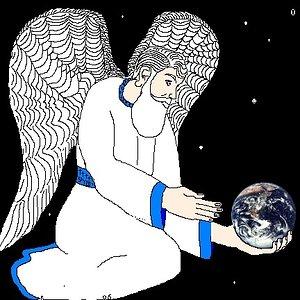 Angel holding earth