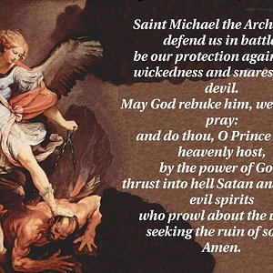 St Michael the Archangel is Protecting us..