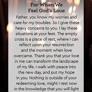 For When We Feel God's Love