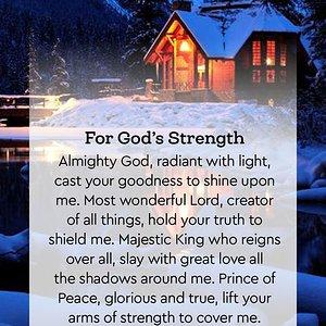 For God's Strength