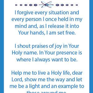 let go of unforgiveness prayer