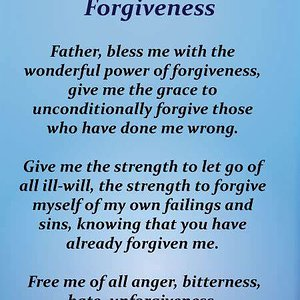 power of forgiveness prayer