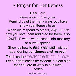 prayer for gentleness