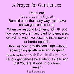 prayer for gentleness