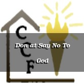 Don at Say No To God